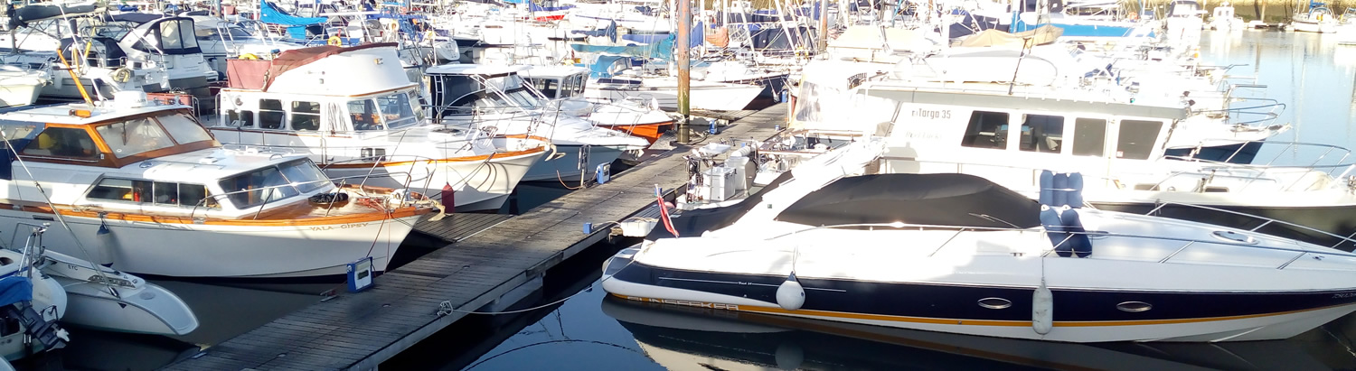 Marina boats moored